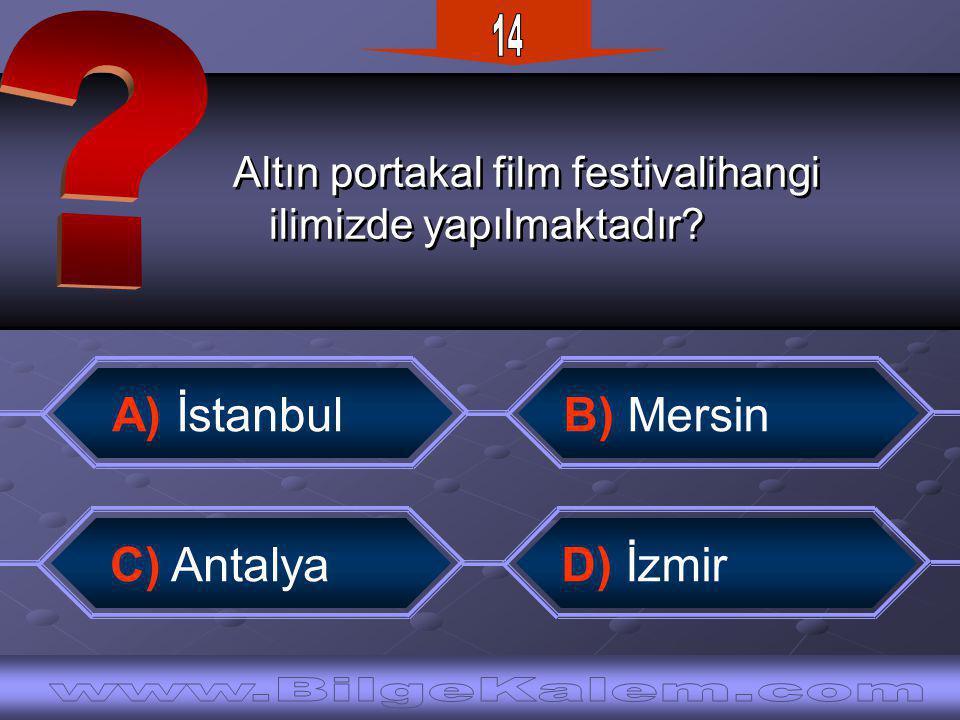 Altın portakal film festivalihangi ilimizde yapılmaktadır.