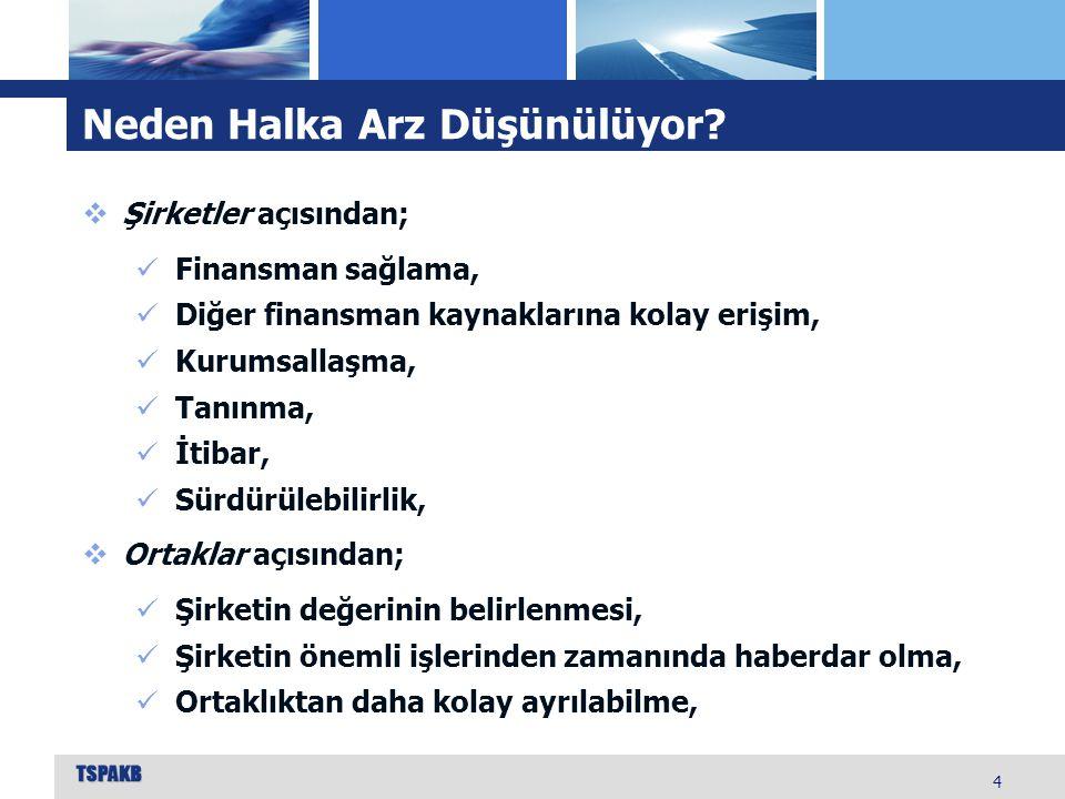 Halka Arzlar 35  2010'dan itibaren 70 şirket halka açıldı.