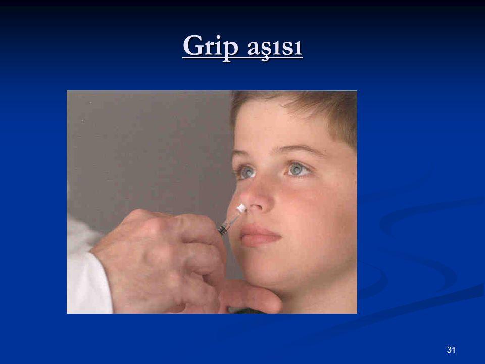 31 Grip aşısı