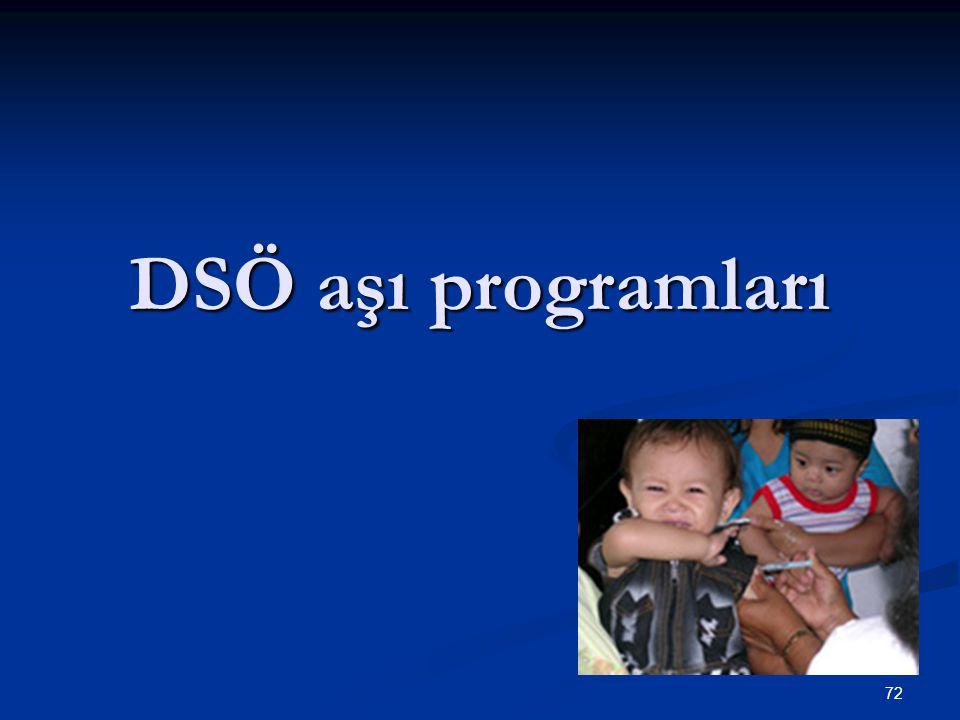 72 DSÖ aşı programları