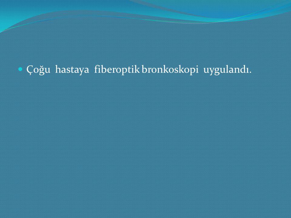 Çoğu hastaya fiberoptik bronkoskopi uygulandı.