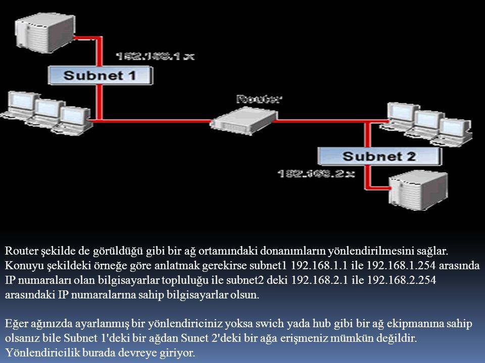 FIREWALL(Ateş Duvarı) Ateş duvarları ağın içinden veya dışından gelen yetkisiz erişimleri engelleyen, süzen ve izin denetimi sağlayan yazılımlar veya donanımlardır.