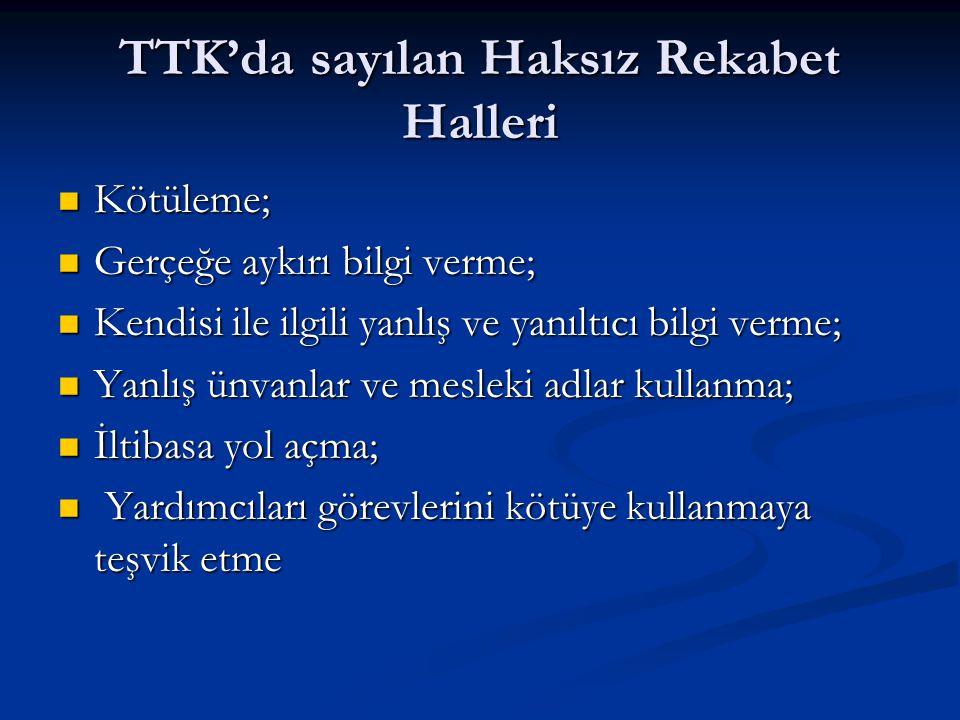 Oda, üyelerinin iktisadi menfaatlerini korumak amacıyla, ihlalin varlığı halinde Türk Ticaret Kanunu ile öngörülen davaları açabilir : Oda, üyelerinin iktisadi menfaatlerini korumak amacıyla, ihlalin varlığı halinde Türk Ticaret Kanunu ile öngörülen davaları açabilir : (a) fiilin haksız olup olmadığının tespiti; (a) fiilin haksız olup olmadığının tespiti; (b) haksız rekabetin men'i; (b) haksız rekabetin men'i; (c) haksız rekabetin neticesi olan maddi durumun (c) haksız rekabetin neticesi olan maddi durumun ortadan kaldırılmasını, haksız rekabet yanlış ortadan kaldırılmasını, haksız rekabet yanlış veya yanıltıcı beyanlarla yapılmışsa bu veya yanıltıcı beyanlarla yapılmışsa bu beyanların düzeltilmesi beyanların düzeltilmesi
