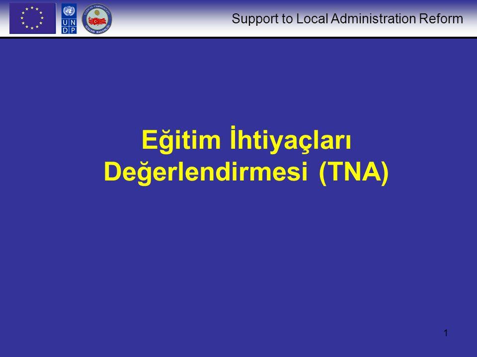 Support to Local Administration Reform 1 Eğitim İhtiyaçları Değerlendirmesi (TNA)