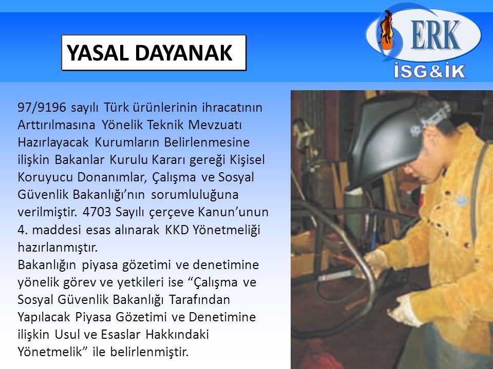 YASAL DAYANAK 97/9196 sayılı Türk ürünlerinin ihracatının Arttırılmasına Yönelik Teknik Mevzuatı Hazırlayacak Kurumların Belirlenmesine ilişkin Bakanl