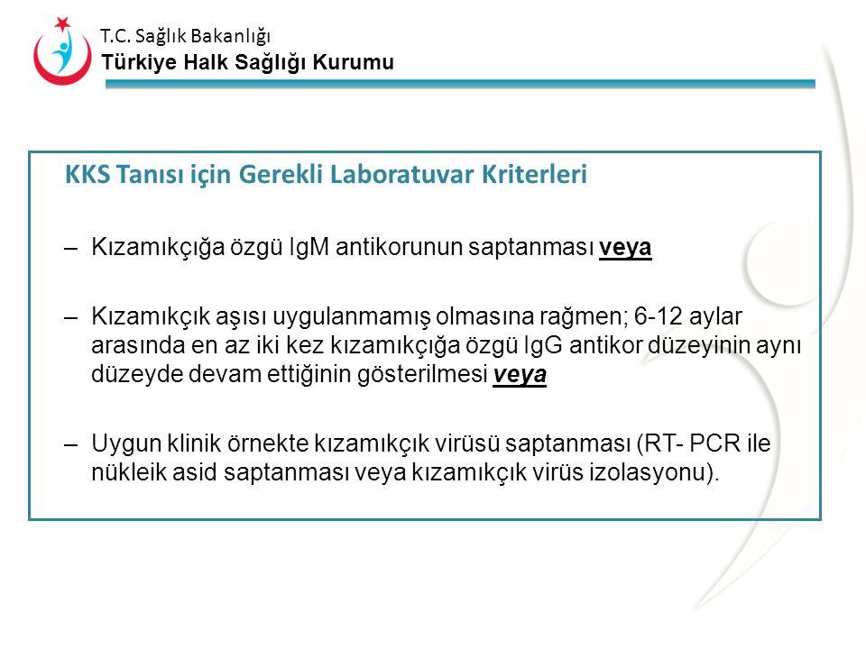 T.C. Sağlık Bakanlığı Türkiye Halk Sağlığı Kurumu KKS Vaka Sınıflaması Şüpheli Vaka: Bir yaşından küçük bir çocukta, A grubu klinik bulgulardan en az