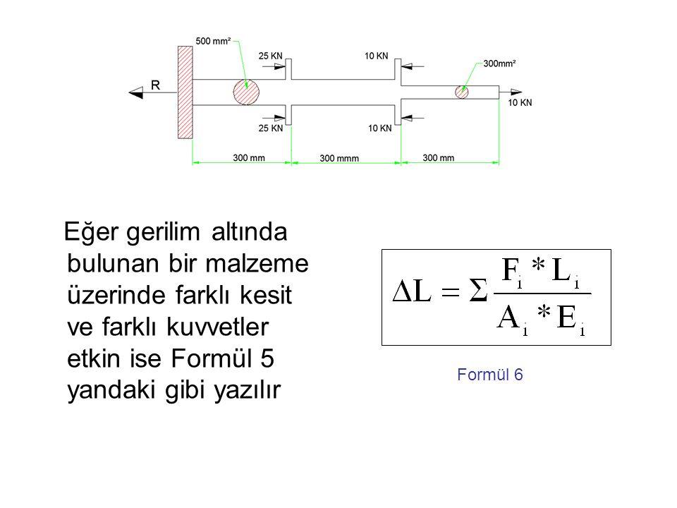 ÖRNEK PROBLEM 1 Yukarıda iki farklı yuvarlak kesiti olan makina parçasına belirtilen kuvvetler etki ediyor.