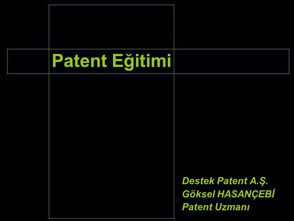 Patent Araştırmasında Kullanılabilecek Kriterler Firma veya şahıs unvanları Araştırma konusu ürün adları ve bunların eşanlamlıları Uluslararası patent sınıf numarası veya numaraları (IPC kodu)