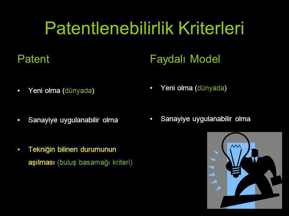 Teknik problem: Sıvı gıdaların tüketilmesindeki zorluk Çözüm: Bardak Patent (yenilik, buluş basamağı, sanayiye uygulanabilirlik) Teknik problem: Sıcak sıvı gıdaların tüketilmesindeki zorluk Çözüm: Kulp Faydalı Model (yenilik, sanayiye uygulanabilirlik)
