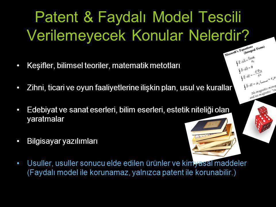 Patentle Korunamayacak Buluşlar Nelerdir.