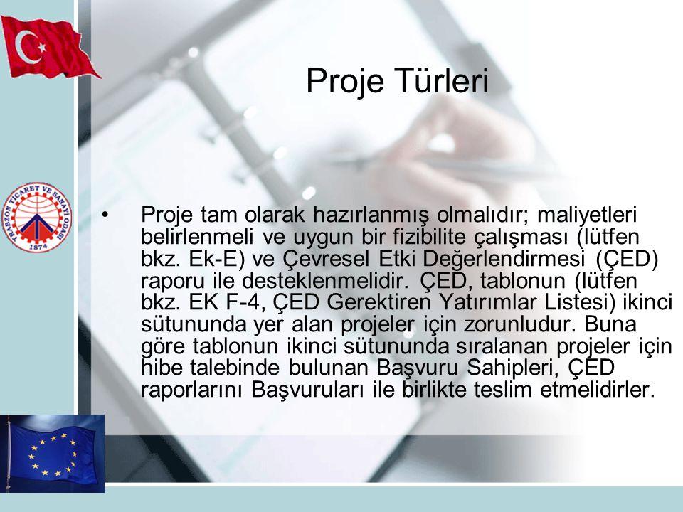 Proje tam olarak hazırlanmış olmalıdır; maliyetleri belirlenmeli ve uygun bir fizibilite çalışması (lütfen bkz.