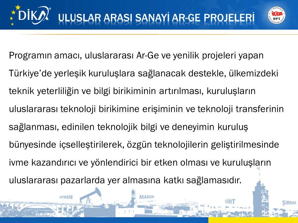 Programın amacı, uluslararası Ar-Ge ve yenilik projeleri yapan Türkiye'de yerleşik kuruluşlara sağlanacak destekle, ülkemizdeki teknik yeterliliğin ve