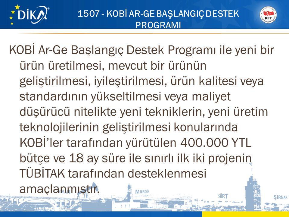 KOBİ Ar-Ge Başlangıç Destek Programı ile yeni bir ürün üretilmesi, mevcut bir ürünün geliştirilmesi, iyileştirilmesi, ürün kalitesi veya standardının