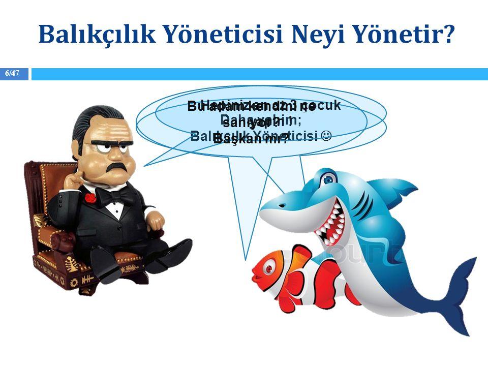 7/47 Oysa Balıkçılık Yönetimi İnsan Yönetimidir Balıkçılık Yöneticisi Neyi Yönetir?