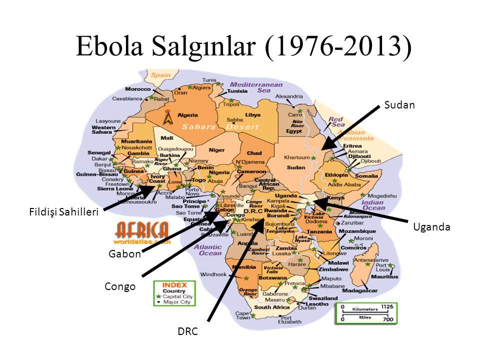 Ebola Salgınlar (1976-2013) Fildişi Sahilleri Gabon Congo DRC Uganda Sudan