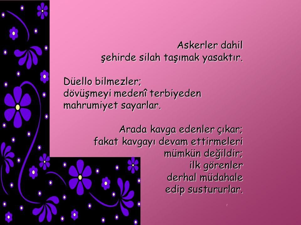 Türklerden daha faziletli bir toplum görmedim. Oyuna ve eğlenceye vakitleri yoktur.