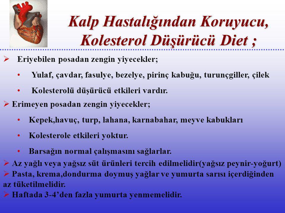  Kilosu fazla olanlar toplam kalori alımını azaltıp,hareketlerini arttırarak kilo vermelidirler.Kilo artışı kolesterol yükseltici bir faktördür.  Et
