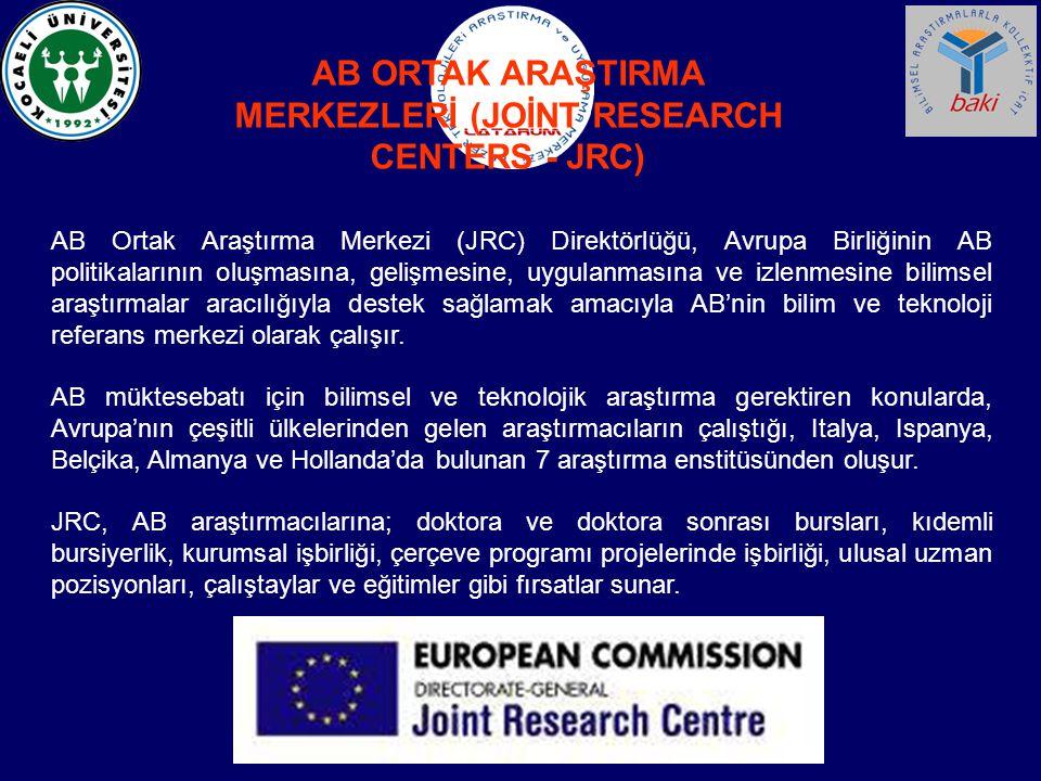 AB Ortak Araştırma Merkezi (JRC) Direktörlüğü, Avrupa Birliğinin AB politikalarının oluşmasına, gelişmesine, uygulanmasına ve izlenmesine bilimsel ara