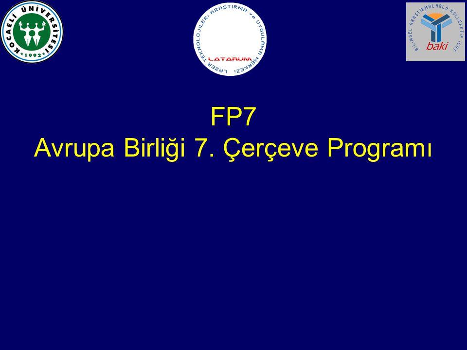FP7 Avrupa Birliği 7. Çerçeve Programı