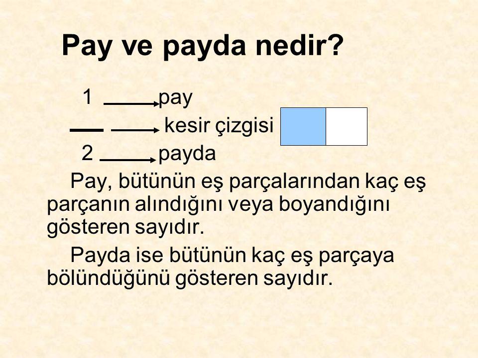 Pay ve payda nedir.