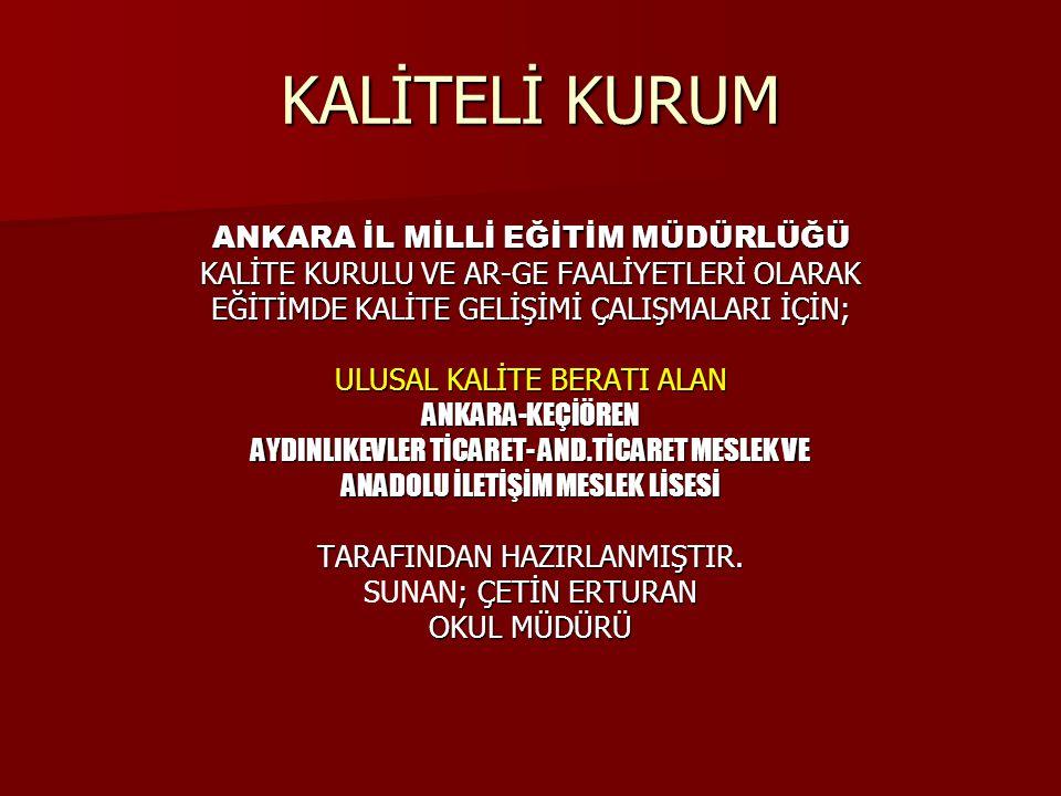 KALİTE ANLAYIŞININ GELİŞİMİ 13.yy.-19.yy.
