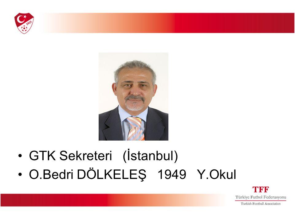GTK Sekreteri (İstanbul) O.Bedri DÖLKELEŞ 1949 Y.Okul