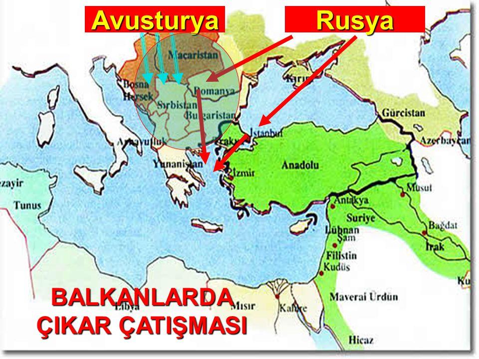  4.Rusya'nın Osmanlı toprakları üzerindeki emelleri ve sıcak denizlere inme politikası.