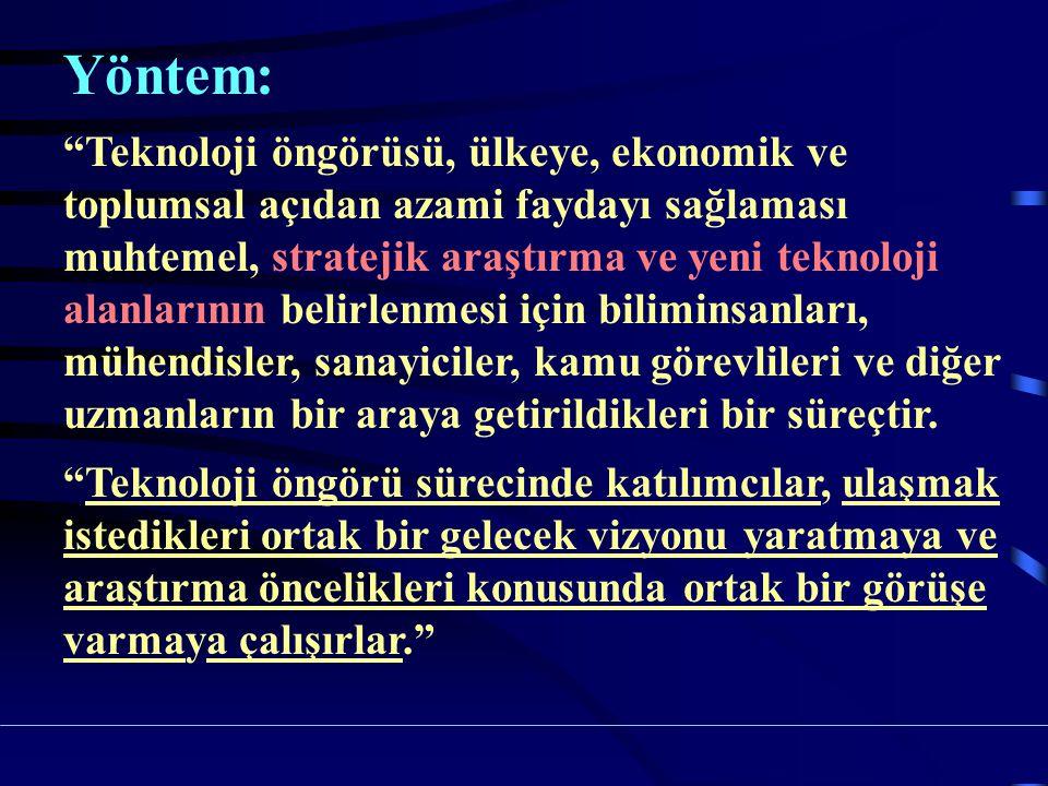 Türkiye'de Teknoloji Öngörü Çalışmaları