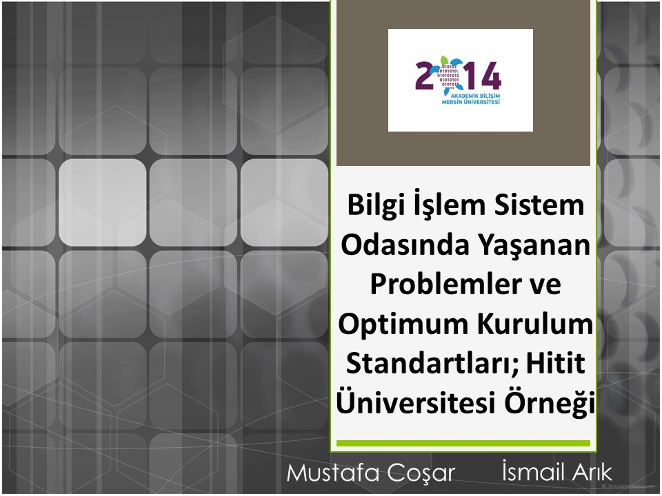 Bilgi İşlem Sistem Odasında Yaşanan Problemler ve Optimum Kurulum Standartları; Hitit Üniversitesi Örneği Mustafa Coşar İsmail Arık