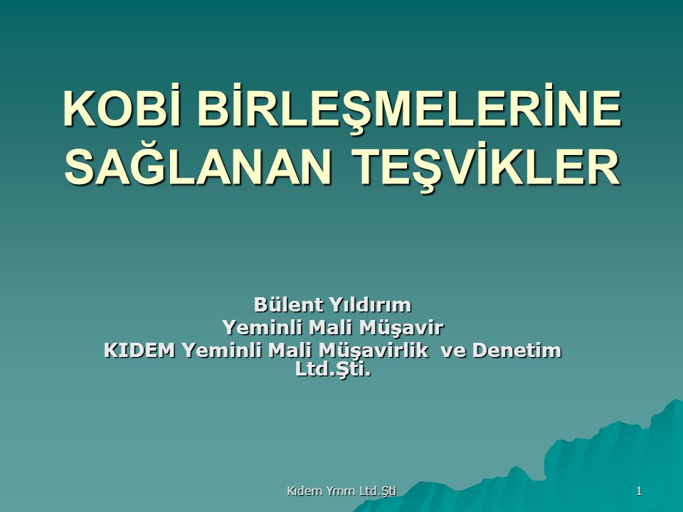 Kıdem Ymm Ltd.Şti 12 Karşılaştırma Tablosu ÖDENECEK KURUMLAR V.