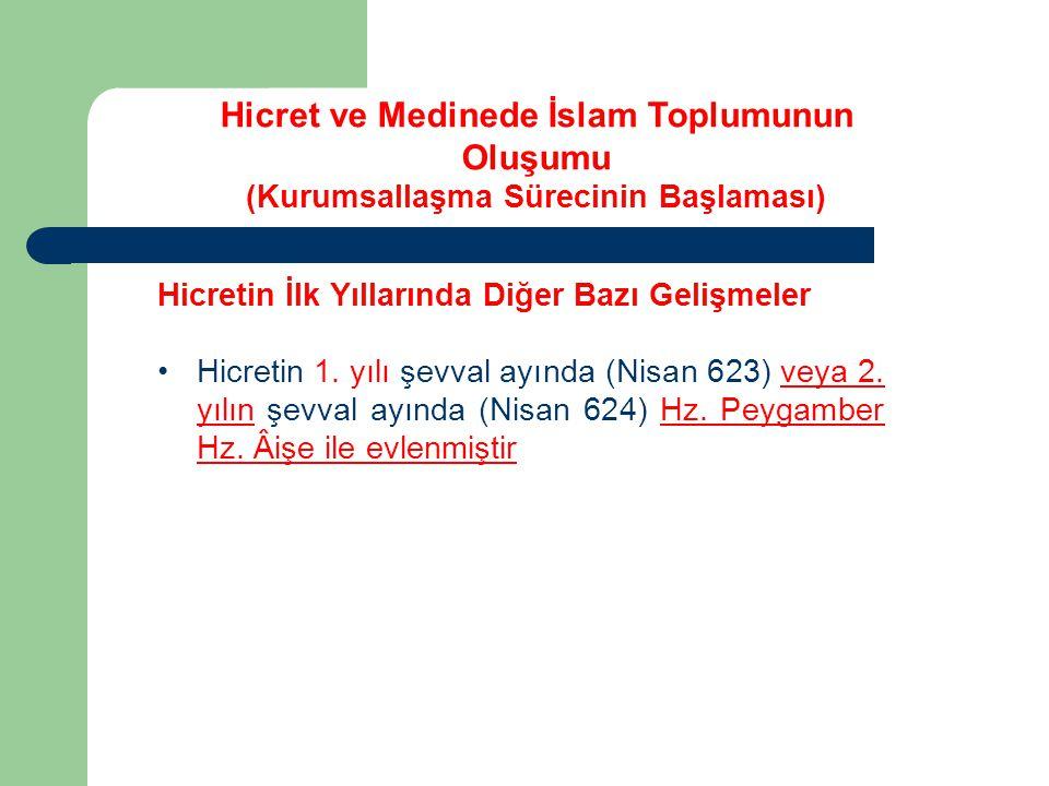 Hicretin İlk Yıllarında Diğer Bazı Gelişmeler Kıblenin Değişmesi; (H2) İkincisi: Medine de iki zümre insan yaşıyordu.