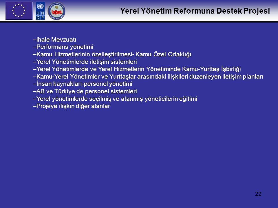 Yerel Yönetim Reformuna Destek Projesi 23 LAR Project Staff Sn.