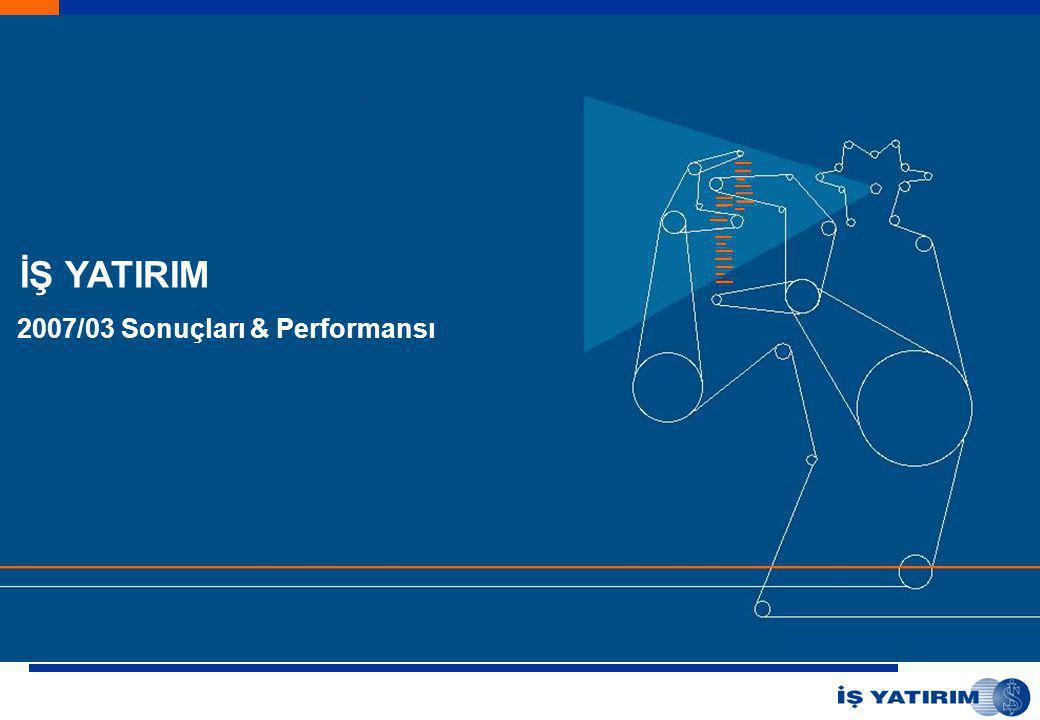 İŞ YATIRIM 2007/03 Sonuçları & Performansı