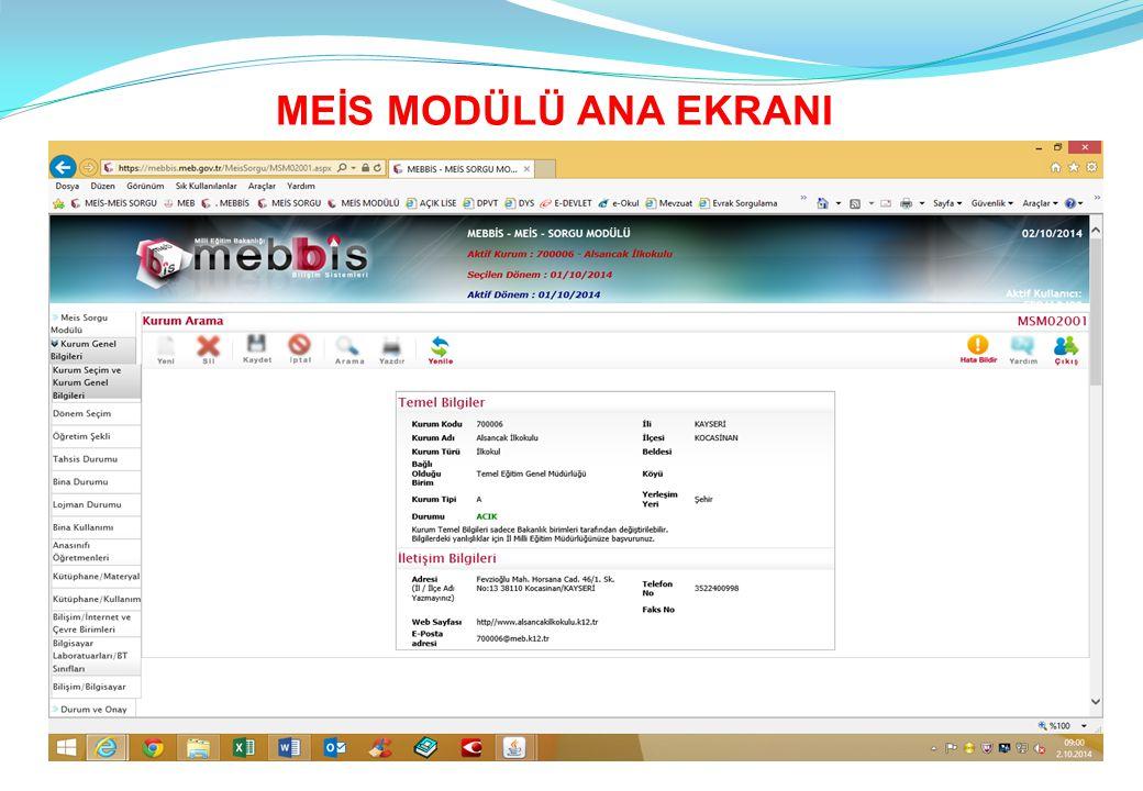 1-EĞİTİM OLANAKLARI A.Kütüphane Materyal (APK05501 ekranı) B.Kütüphane Kullanımı (APK05502 ekranı) C.Bilişim İnternet ve Çevre Birimler Ekranlarını tüm resmi ve özel okul ve kurumlar mutlaka dolduracaktır.