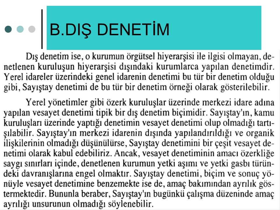 B.DIŞ DENETİM