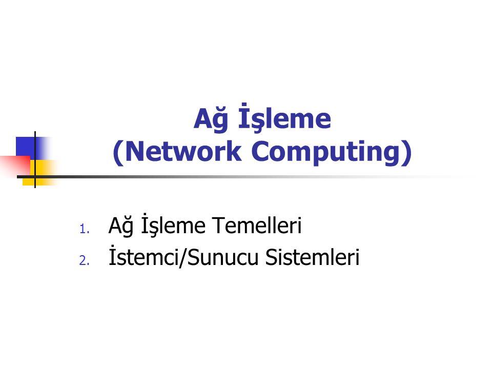 Ağ İşleme (Network Computing) 1. Ağ İşleme Temelleri 2. İstemci/Sunucu Sistemleri