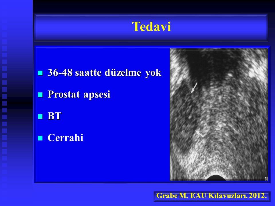36-48 saatte düzelme yok 36-48 saatte düzelme yok Prostat apsesi Prostat apsesi BT BT Cerrahi Tedavi Grabe M.