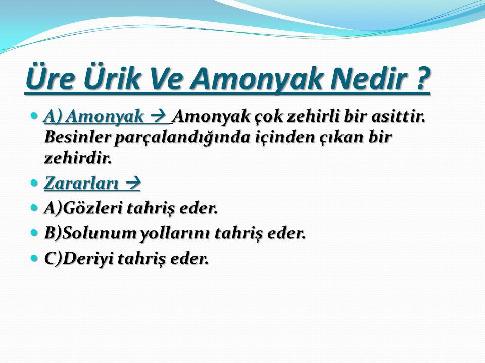 Üre Ürik Ve Amonyak Nedir .A) Amonyak  Amonyak çok zehirli bir asittir.