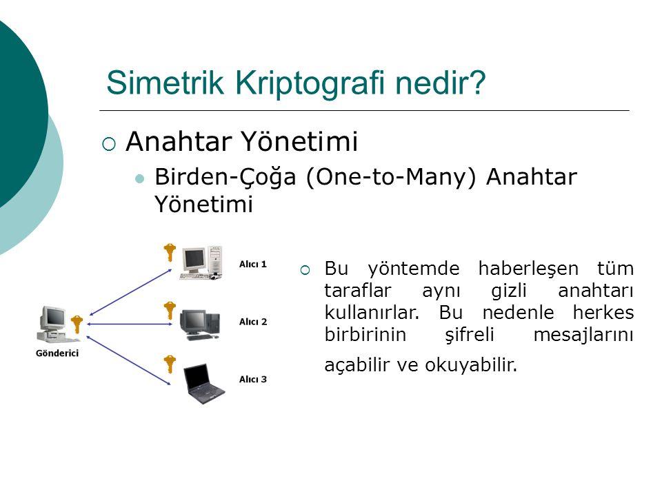 Simetrik Kriptografi nedir.