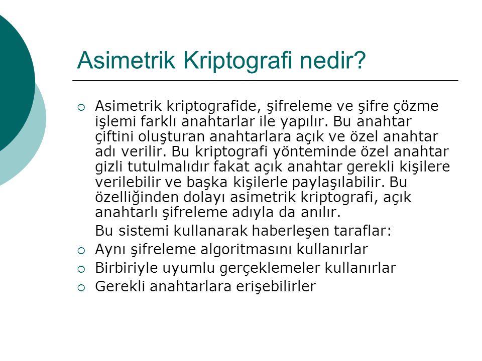 Asimetrik Kriptografi nedir.