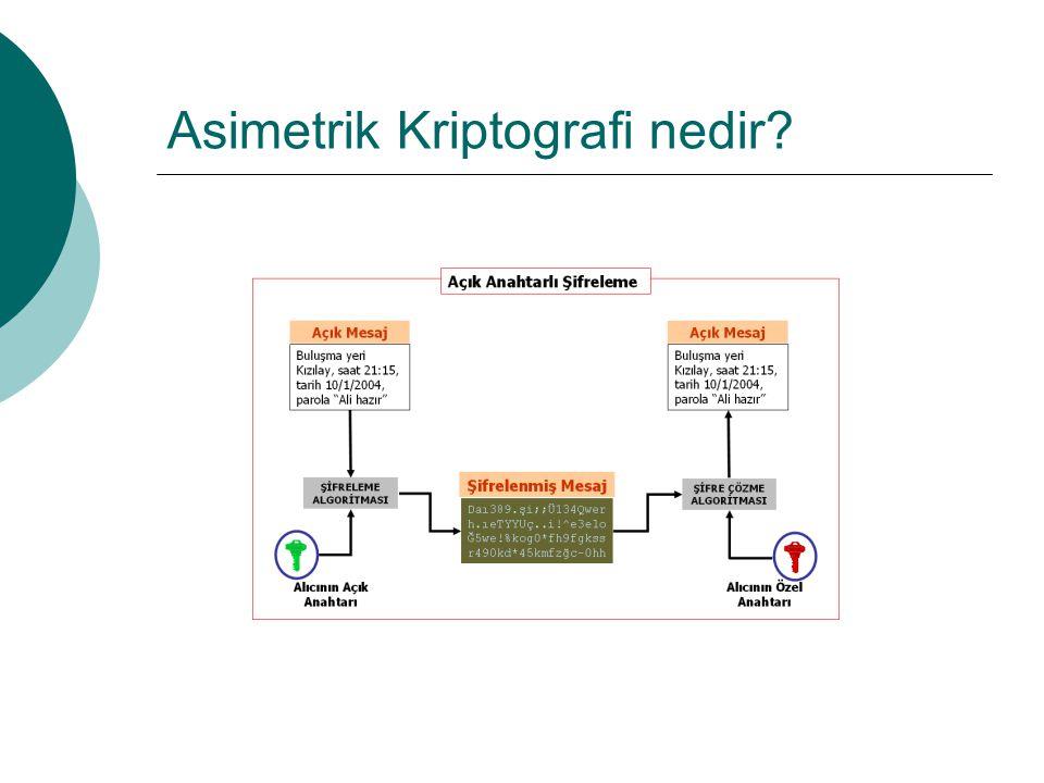 Asimetrik Kriptografi nedir?