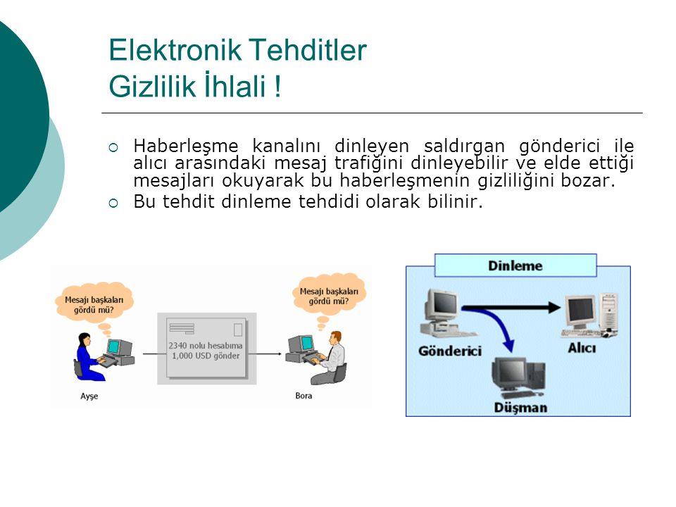 Elektronik Tehditler Gizlilik İhlali .