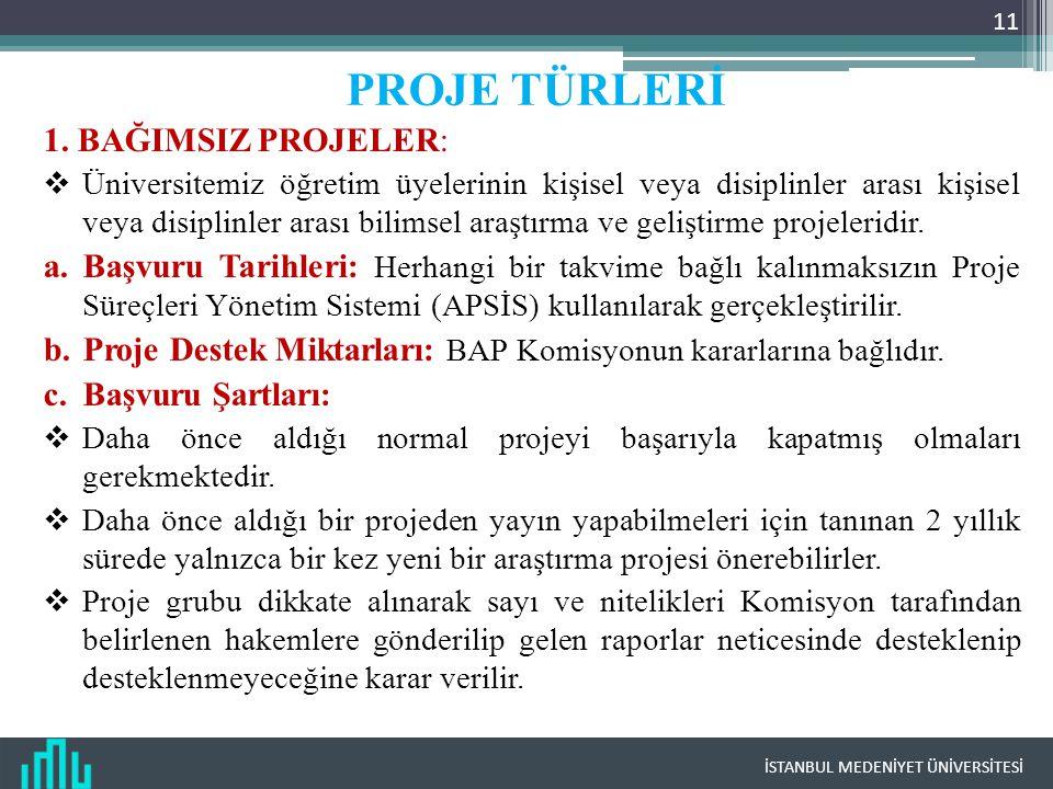 İSTANBUL MEDENİYET ÜNİVERSİTESİ 11 1.