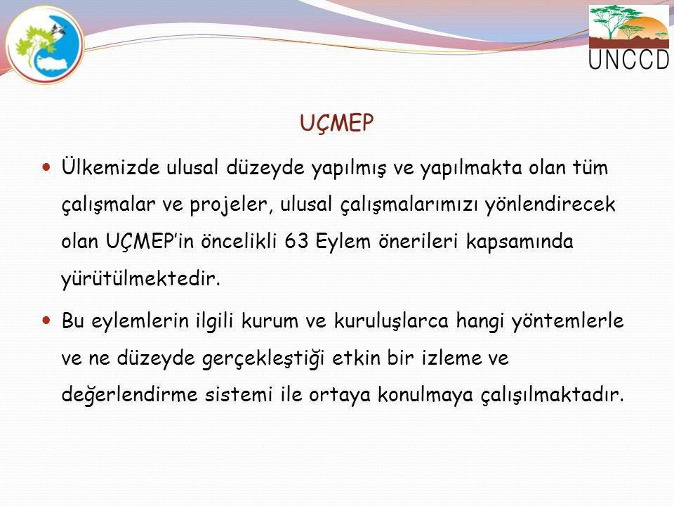 UÇMEP Ülkemizde ulusal düzeyde yapılmış ve yapılmakta olan tüm çalışmalar ve projeler, ulusal çalışmalarımızı yönlendirecek olan UÇMEP'in öncelikli 63