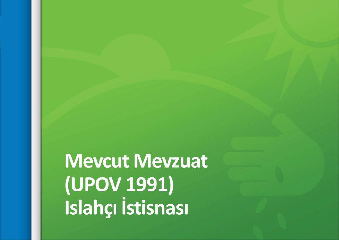 Mevcut Mevzuat (UPOV 1991) Islahçı İstisnası