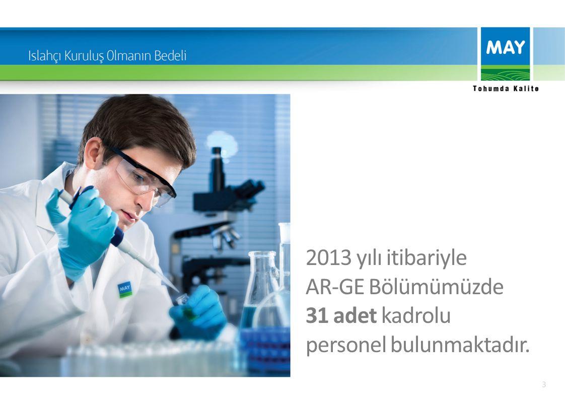 Bu personelin 4'ü doktora, 5'i yüksek lisans, 15'i de lisans seviyesinde Ziraat Mühendisi ve/veya Moleküler Biyologdur.