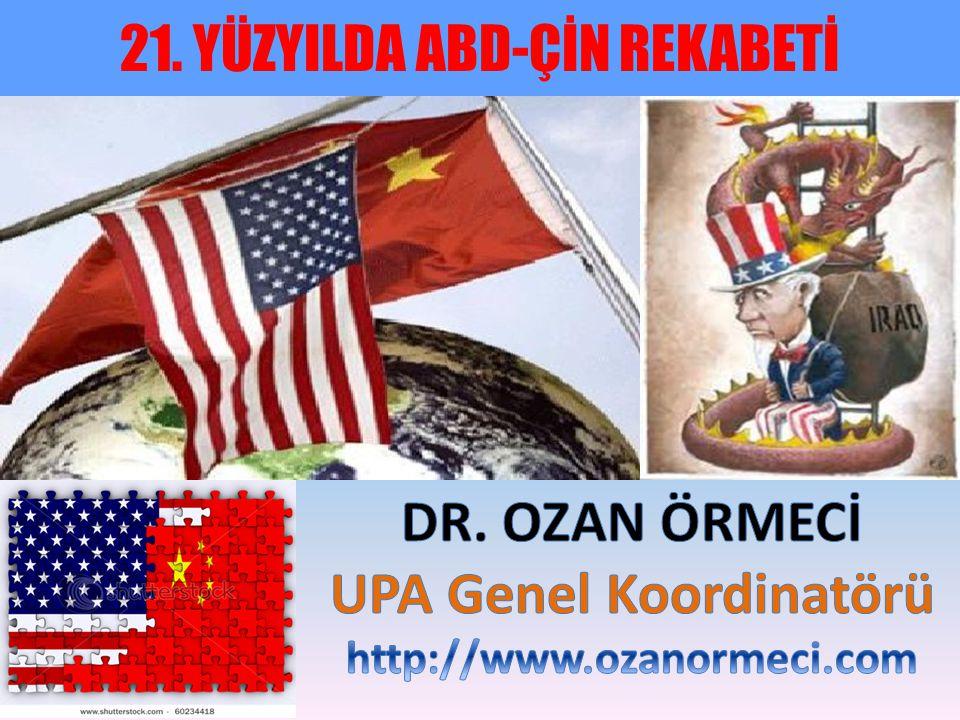 SUNUM PLANI 1-) Dünya Tarihinin Ana Hatları ve Başat Güç Teorisi 2-) Çin Yükselişi 3-) Amerikan Düşüşü 4-) ABD vs.