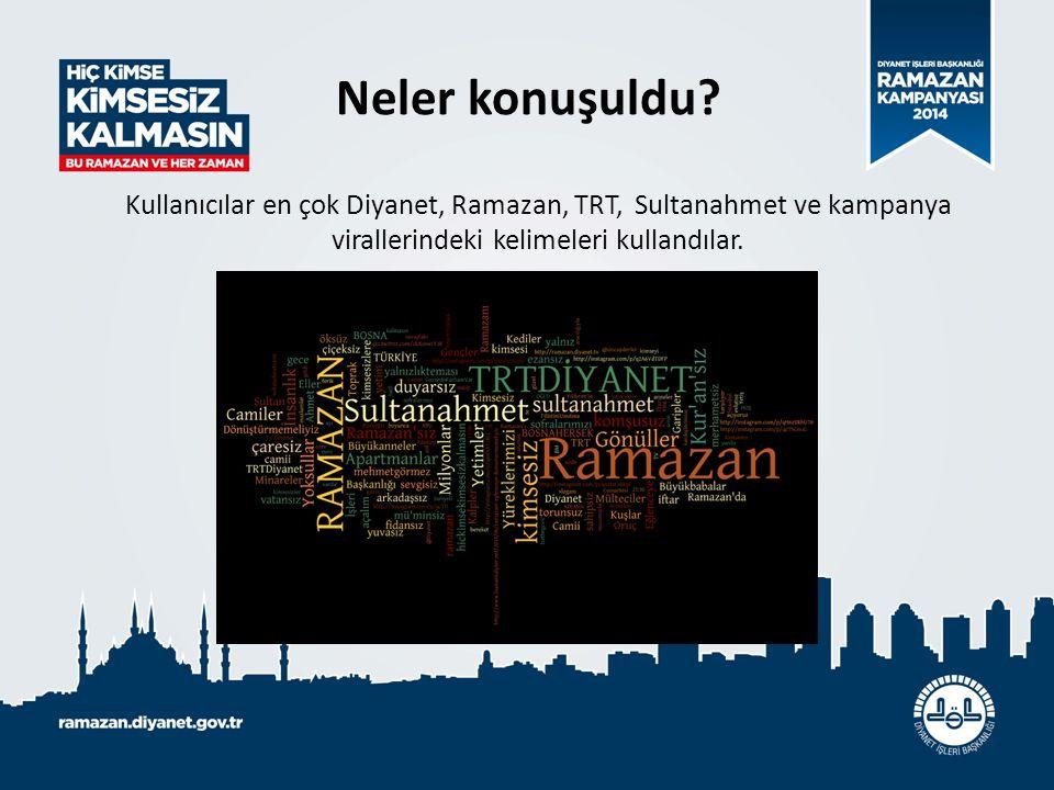 Neler konuşuldu? Kullanıcılar en çok Diyanet, Ramazan, TRT, Sultanahmet ve kampanya virallerindeki kelimeleri kullandılar.
