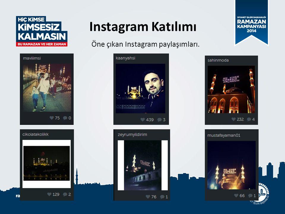 Öne çıkan Instagram paylaşımları. Instagram Katılımı