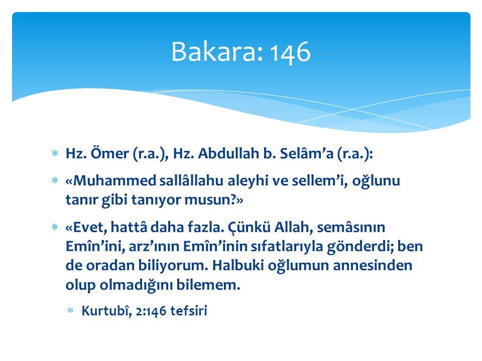  Hz.Ömer (r.a.), Hz. Abdullah b.